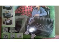 BLACK 5 IN 1 INFLATABLE SOFA