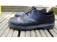 Dr Martens Soft Leather Black 3-Eye Bexley Shoes, UK Size 7