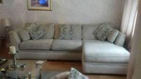 Cream sofa with love chair