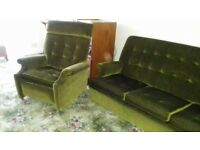 3 piece sofa and 2 reclining arm chairs