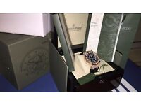 MENS DIAMOND AP ROYAL OAK CHRONOGRAPH GOLD FULLY ICED OUT NEW WITH BOX BOOKS BAG