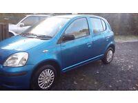 Toyota Yaris T2, full 12 months MOT, 110,000 miles, 2003 blue hatchback, Was £1150 now £890