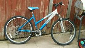 Blue and grey mountain bike