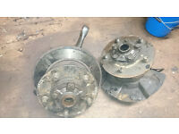 Land Rover Defender / Disco 300tdi swivel ball housing assembly with hubs