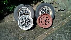 MG B wheels .