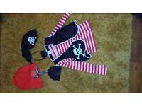 Kids halloween pirate costume, age 5