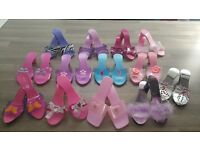 Girls Fancy Dress Up Shoes - 13 pairs