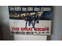 """""""The Great Escape"""" Film Poster on Canvas"""