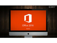 MICROSOFT OFFICE for MAC OSX 2016