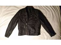 Mens Coat/ jacket (stonewashed, biker jacket, leather style)BNWT