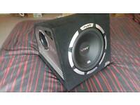 """12"""" Vibe 1200w sub excellent condition matching Vibe 700 rms amp"""