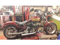 harley chopper rolling chassis with v5