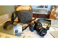 Nikon d3300 dslr camera and sigma 18-270mm lens