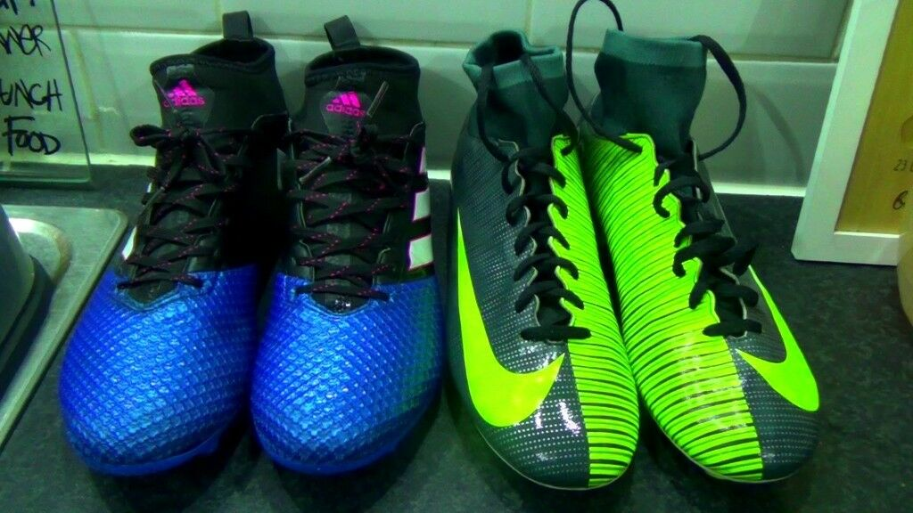 size 40 a2523 32269 Pair of Nike Mercurial CR7 size 10   Pair Adidas Ace size 10 both for  artificial surface