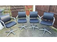 4x salon style chairs