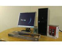 "HP XW4300 Workstation Computer Desktop PC & HP 19"" LCD"