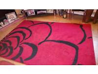 Large red & black rug