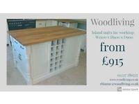 kitchen island unit, standard configuration - solid pine - oak - bespoke - handmade