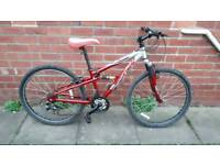 Teen's/Adults Apollo FS26. 14 inch aluminium Frame. 21 speed. Good condition ready to ride