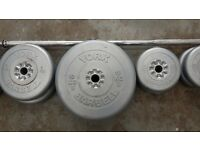 York barbell with weights