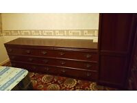 Set of drawers (1 x Single, 2 x Double) - Brown