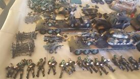 Lots of Army toys- Tanks, trucks, soldiers etc £150.00 ono