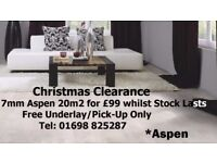 £99 CHEAPEST 5x4 IN U.K 7mm Thick Aspen Laminate 20m' Including Free Underlay 🎄 CASH AND CARRY