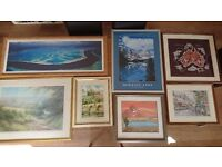 7 pieces of Artwork in quality frames - ideal for collector, 2nd hand trader or new tenant/homeowner