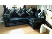 Beautiful jumbo cord corner sofa delivery available