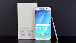 SAMSUNG GALAXY NOTE 5 64GB UNLOCKED SMARTPHONE WITH WARRANTY