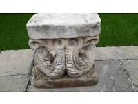 Stone plinths set of 4