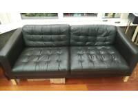 IKEA 3 Seat leather sofa. (IKEA LANDSKRONA)