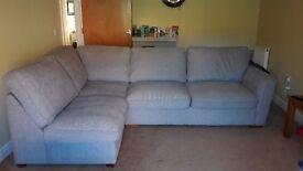 Light grey corner sofa