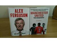 Alex Ferguson and Manchester United books