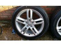 "4 x 18"" Genuine Audi 5x112 5 stud A4 A5 A6 Q3 S4 S6 S Line Alloy Wheels"