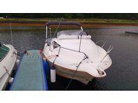 Quicksilver 17ft fast motor boat