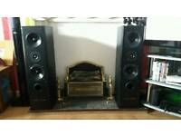 2 large standing speakers
