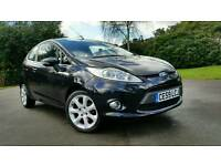 FORD FIESTA ZETEC 82 + 1.2cc + LOW MILLEAGE + BLACK + FULL SERVICE HISTORY + ALLOY WHEELS + AIRCON +