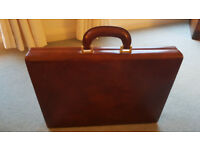 Italian Leather Tan Briefcase