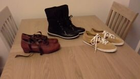1 Pr Boots 2 Pairs Shoes