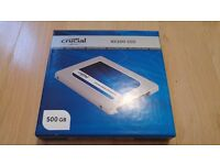 CRUCIAL BX100 500GB SSD MINT CONDITION WITH BOX