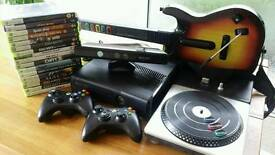 Xbox360 Kinect Guitar & DJ hero + games