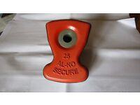 Al Ko Secure Caaravan Wheel Lock Insert Number 25. Lozenge Only. Excellent Condition