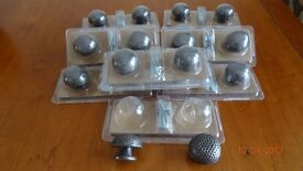 Antique pewter effect dimpled Knobs