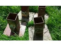 Various Used Metal Fence Post Anchor Base Supports