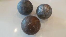 x3 French Metal Petanque - Boules - Bowls Various