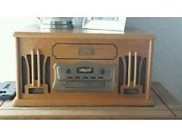 Record player(turntable) with cd and tape vintage style lovely item
