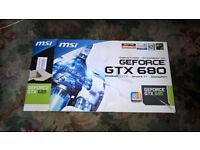 MSI GTX 680 Afterburner Graphics Card N680GTX-PM2D2GD5 Watercooled Inc Fan