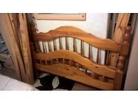 Solid Pine Double Bed - Frame only - used but in good condition