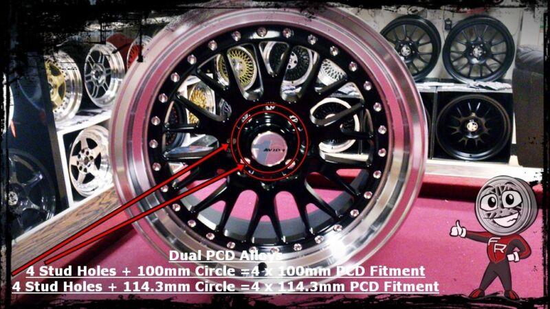 4x100 & 4x114.3 Duel PCD Alloy Wheel